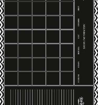 Pizarra- calendario