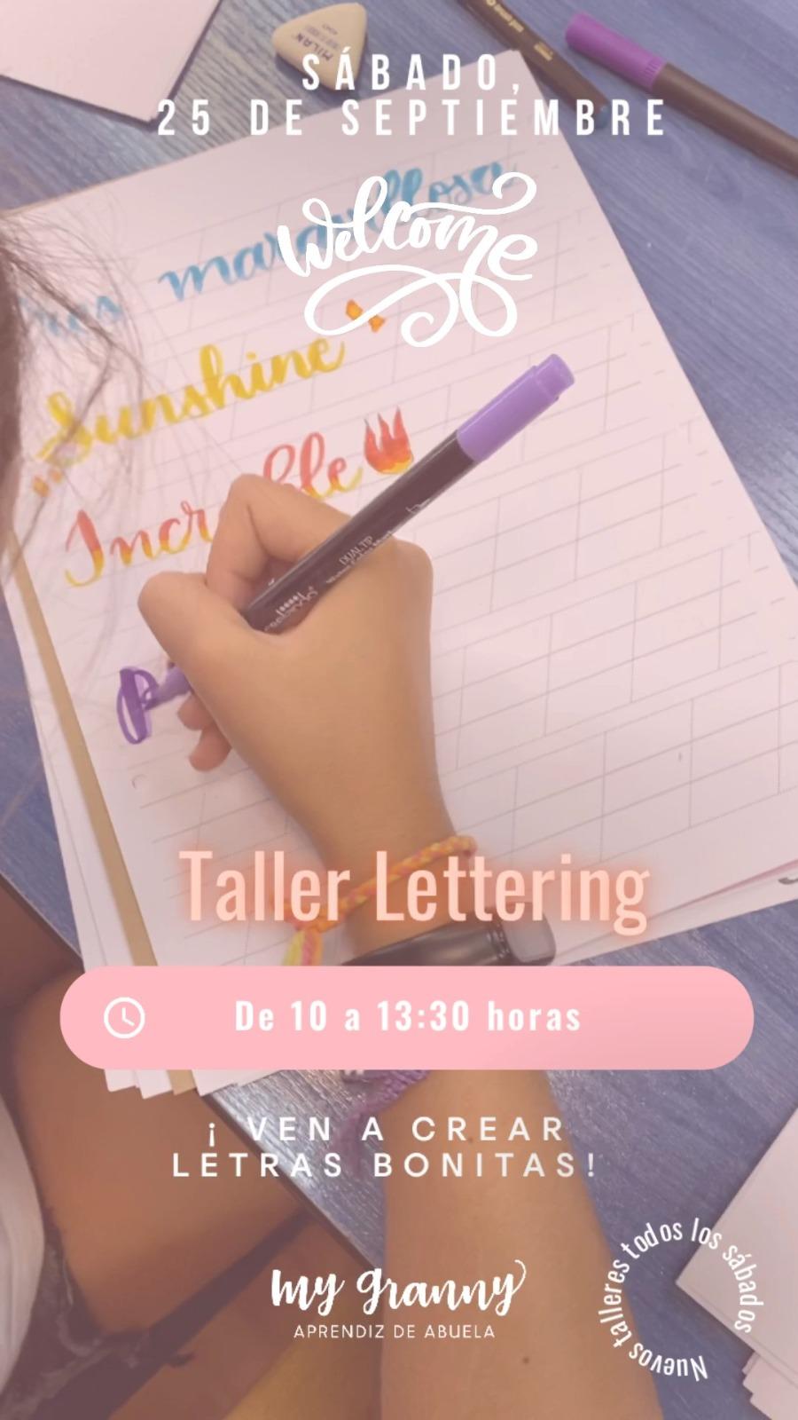 Taller Lettering ¡Ven a Crear Letras Bonitas!