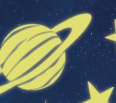 Pegatinas-planetas luminosos